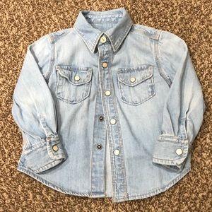 Baby Gap Button Up Denim Shirt